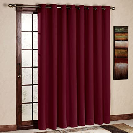 Amazon.com: RHF Wide Thermal Blackout Patio door Curtain Panel ...
