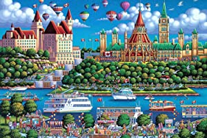 APzek Puzzles for Adults 1000 Piece - Lively Riverside - Large Jigsaw Puzzles for Adults Kids, Educational Intellectual Decompressing Game Home Decoration (29.5X19.7 Inch)