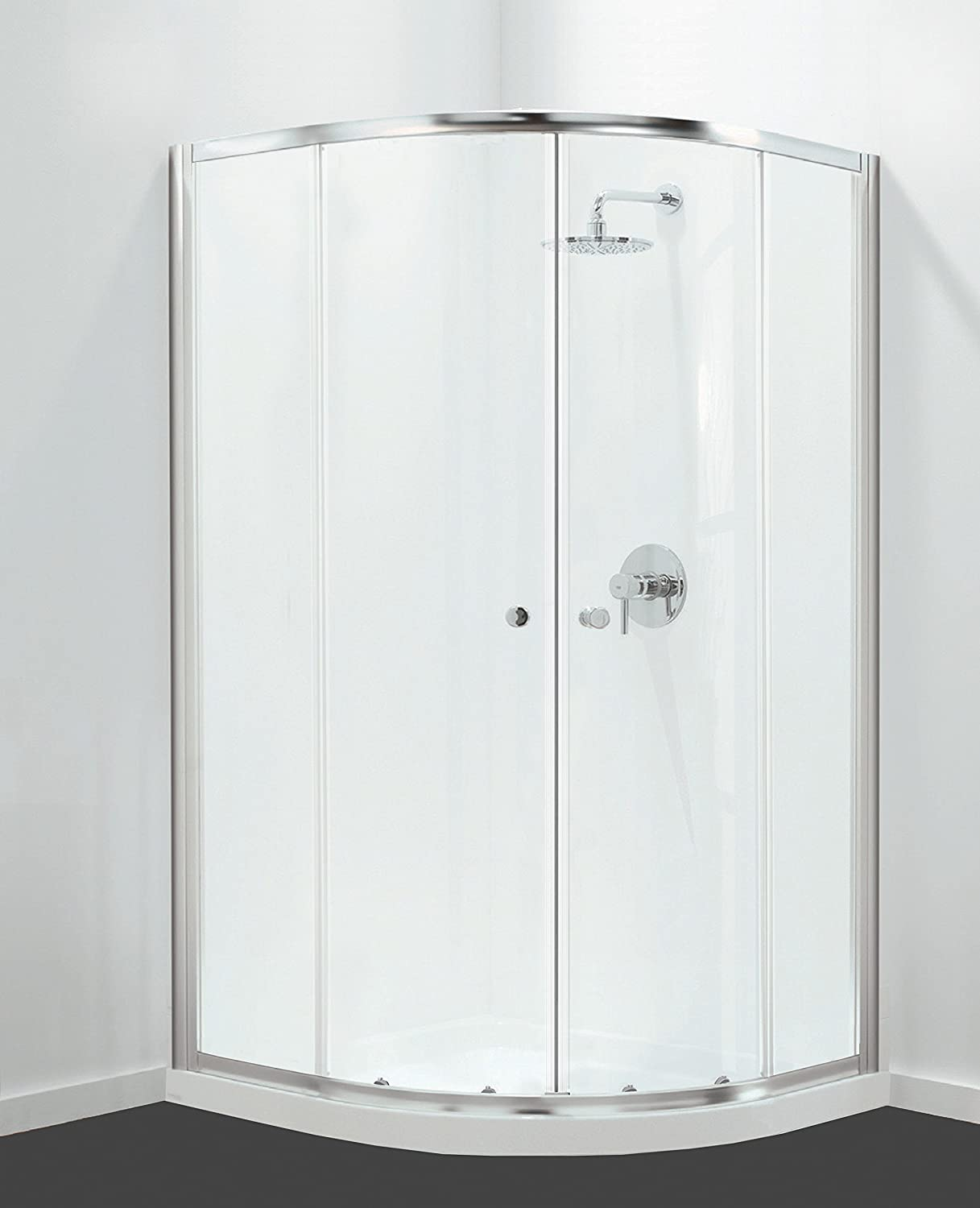 800x800mm Coram GB GBQD280CUC 1800mm Quadrant Shower Enclosure Chrome