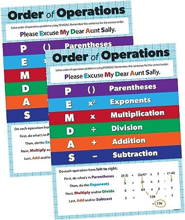 PEMDAS Multiply Parenthesis Exponents Divide ...- NEW CLASSROOM MATH POSTER