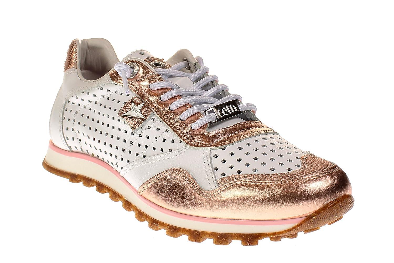 Cetti C848 SRA - Damen Schuhe Turnschuhe - Espejo-Platino-Weiß
