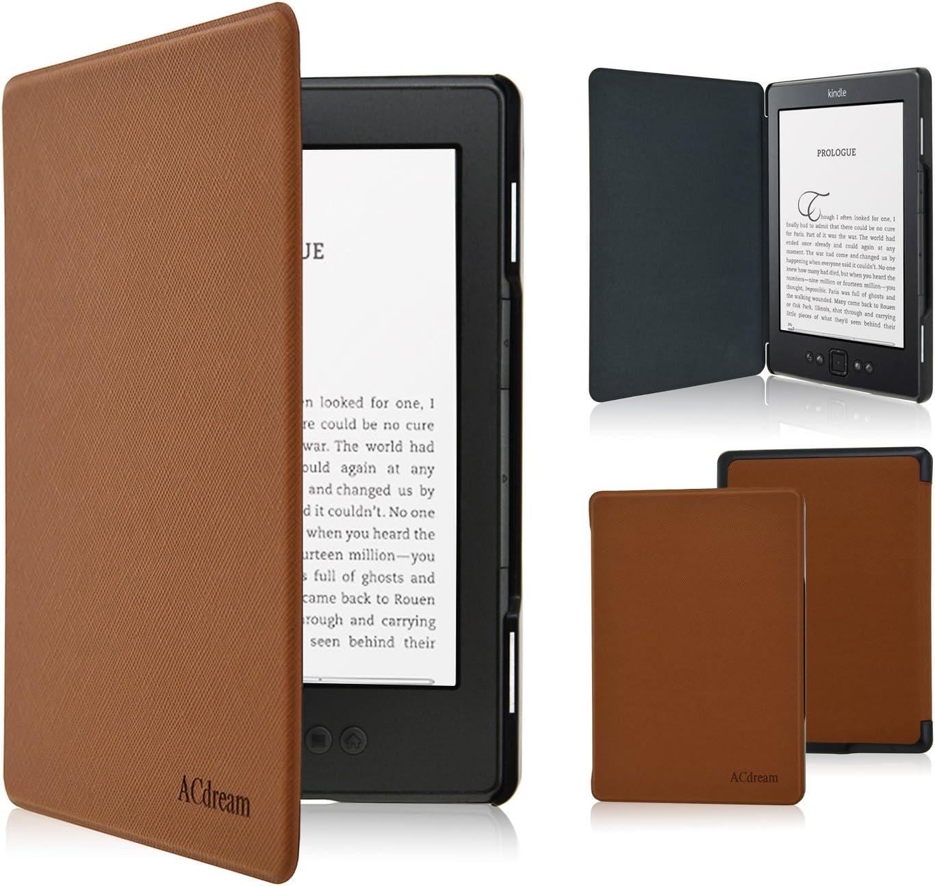 Fskying Kindle 4 Funda, Premium Cuero Ereader Funda para Kindle 4/Kindle 5: Amazon.es: Electrónica