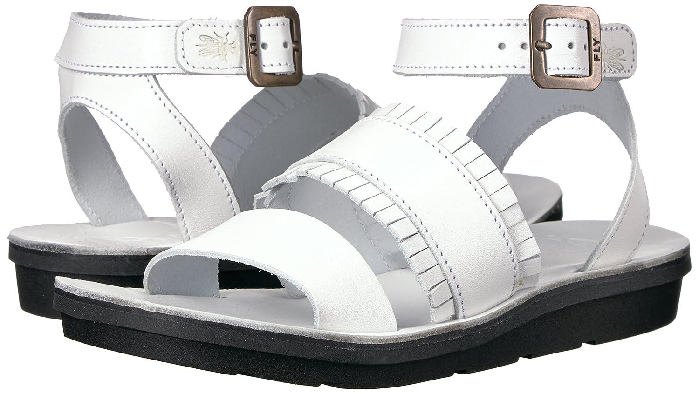 FLY London Women's Mele913fly Flat Sandal B01M0G2OHH 37 EU/6.5-7 M US|Off White Brindle
