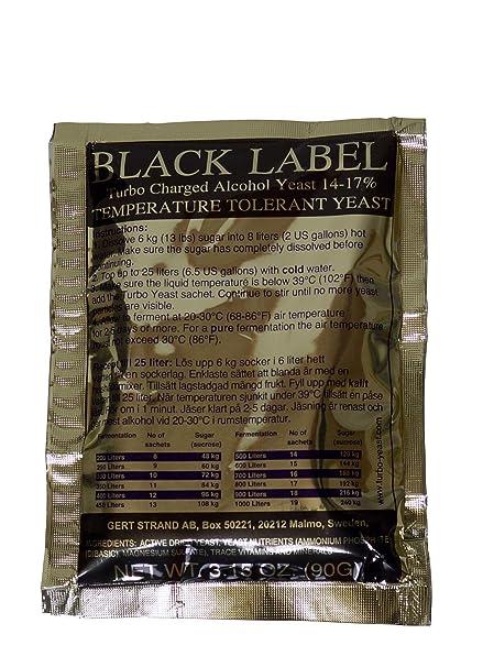 "Prestige "" Turbo Levadura Black Label 14% – reintönig vergärende Inoxidable Levadura con Bolsas"