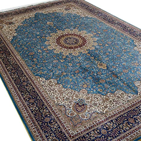 Amazon Com Camel Carpet Navy Blue Silk Chinese Rugs For Sale 6 X9