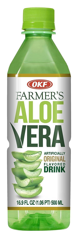 OKF Farmer's Aloe Vera Drink, Original, 16.9 Fluid Ounce (Pack of 20)