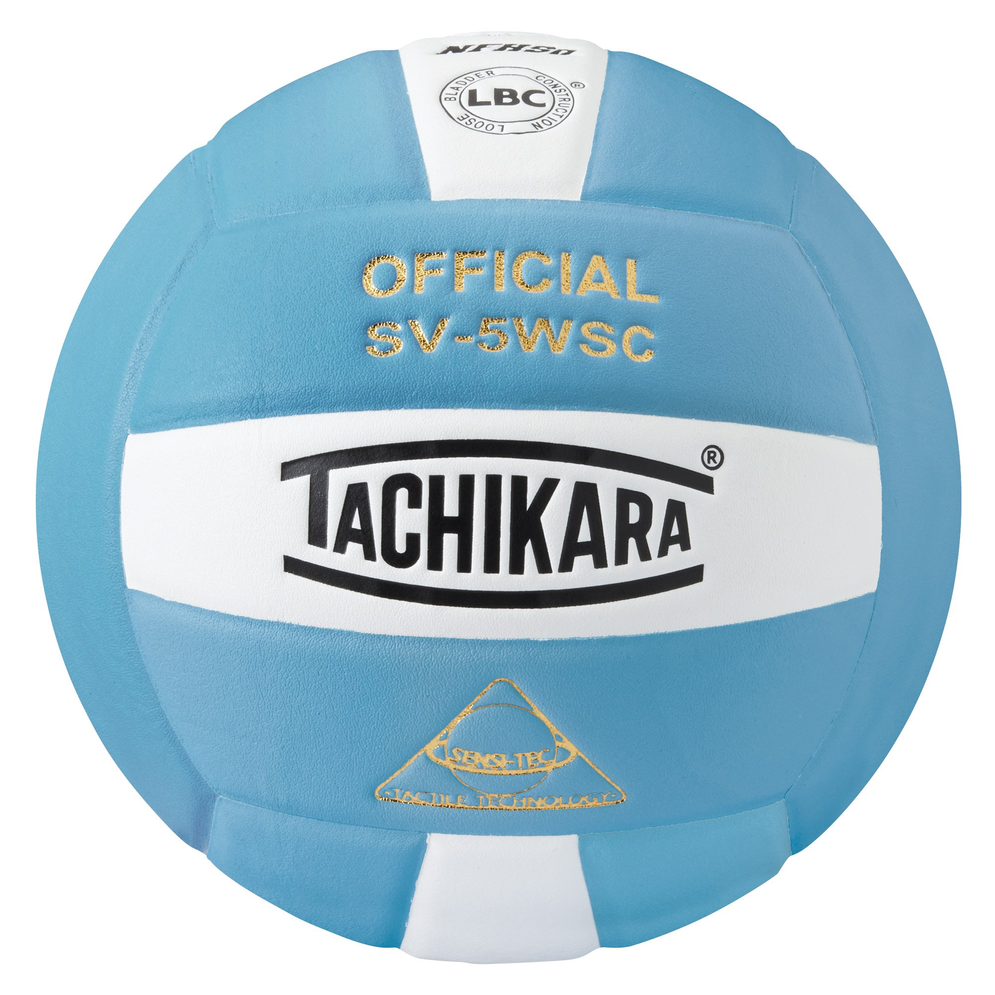 Tachikara Sensi-Tec Composite Volleyball, Powder Blue/White