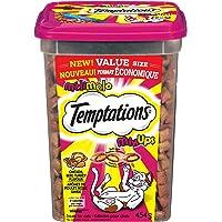 TEMPTATIONS Cat Treats, Mix-Ups Meaty (Chicken, Turkey & Beef Flavour), 454g Tub