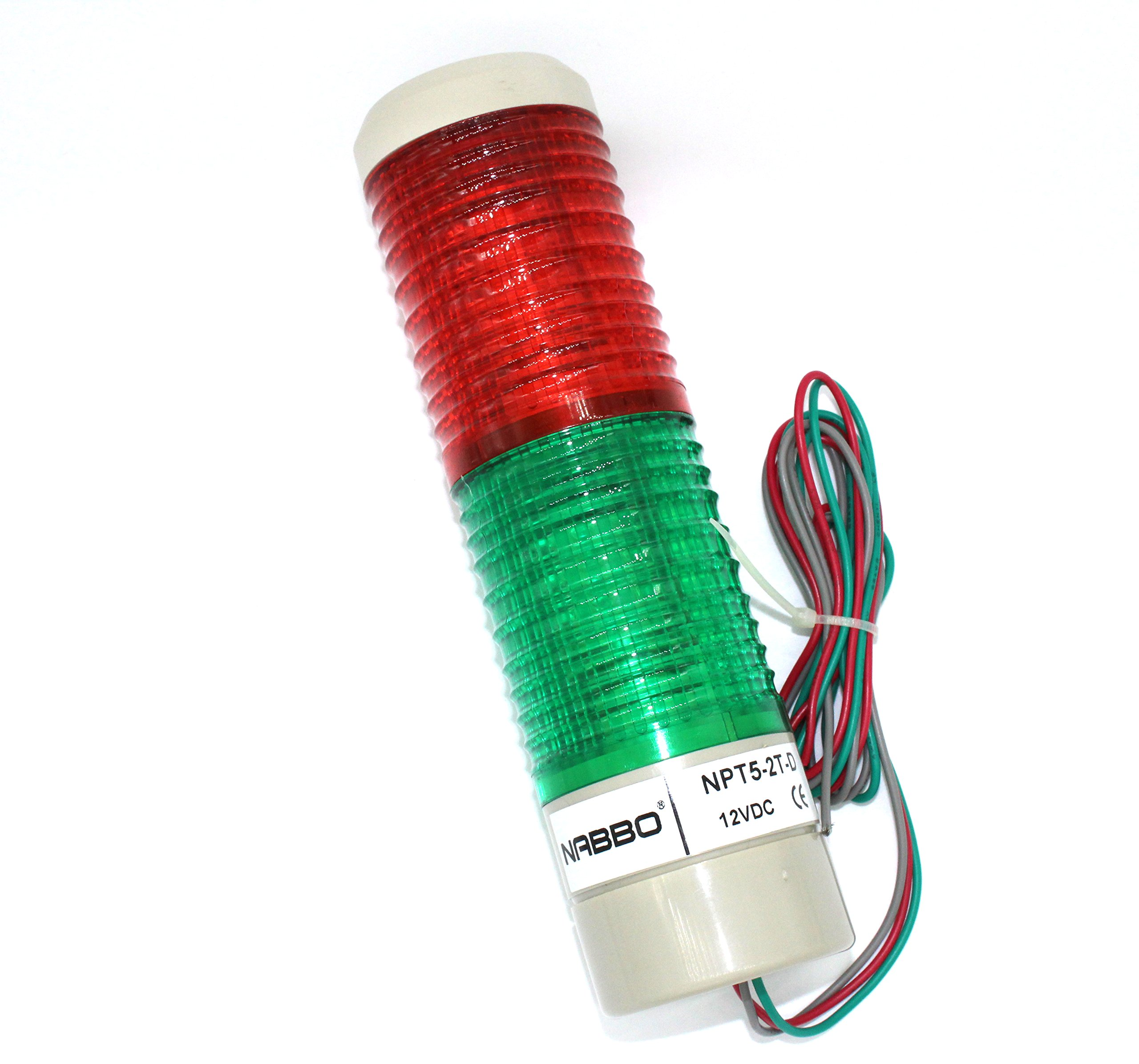 Industrial Signal Light Column LED Alarm Round Tower Light Indicator Warning light Red Green DC 12V Steady On
