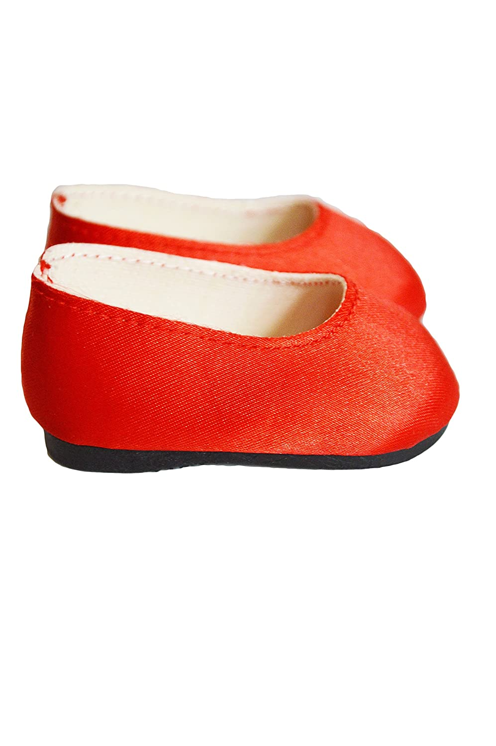 Brittanys My Red Satin Flats Compatible with Wellie Wisher and Glitter Girl Dolls