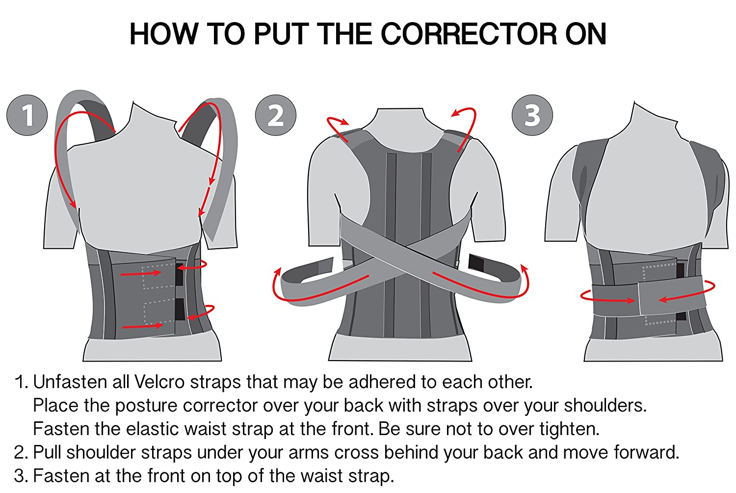 how to put posture corrector on