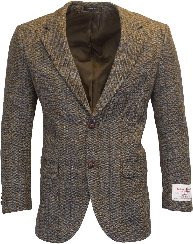 Walker and Hawkes - Blazer Harris Tweed para Hombre - Chaqueta clásica de Punto de Espiga Clinton - Disponible en Las Tallas S-3XL