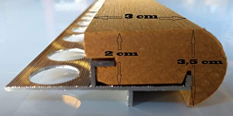 Mamperlán Perfil fibra para peldaño y escalera Maple (1,00): Amazon.es: Bricolaje y herramientas