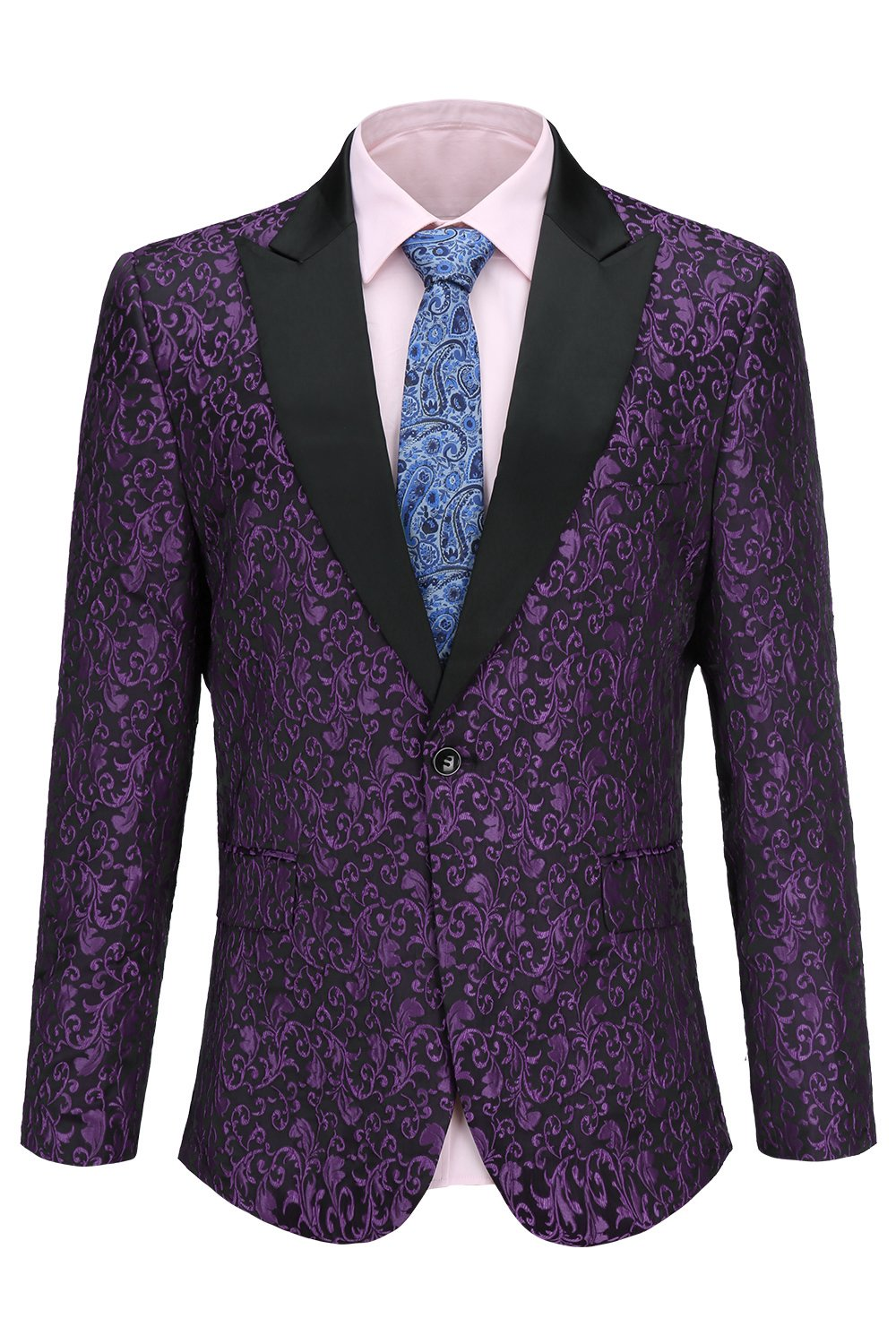4509e9167f7 FISOUL Mens Suit Floral Party Dress Suit Stylish Dinner Tuxedo Jacket  Wedding Blazer product image