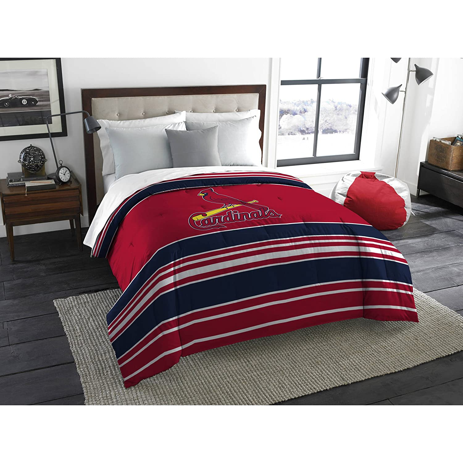 The Northwest Company MLB St. Louis Cardinals Stripe Life Twin/Full Bedding Comforter #52593262