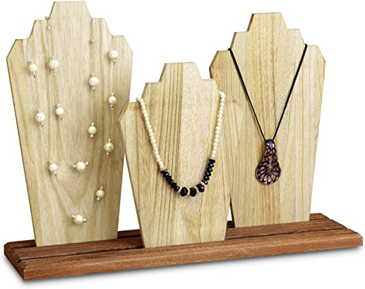 Amazon Com Mooca Wooden Necklace Holder Jewelry Display Bust Stand Wood Jewelry Necklace Stands Necklace Organizer Necklace Bust Stands Wood Jewelry Holder Display Home Improvement