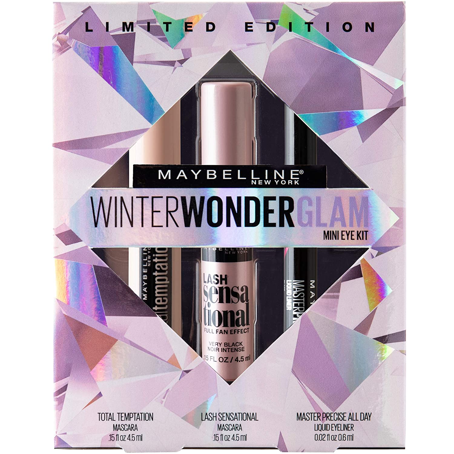Maybelline Winter Wonderglam Mini Eye Kit, Holiday Mascara Kit