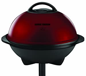 George Foreman 240 Square Inch Indoor/Outdoor Grill, Red