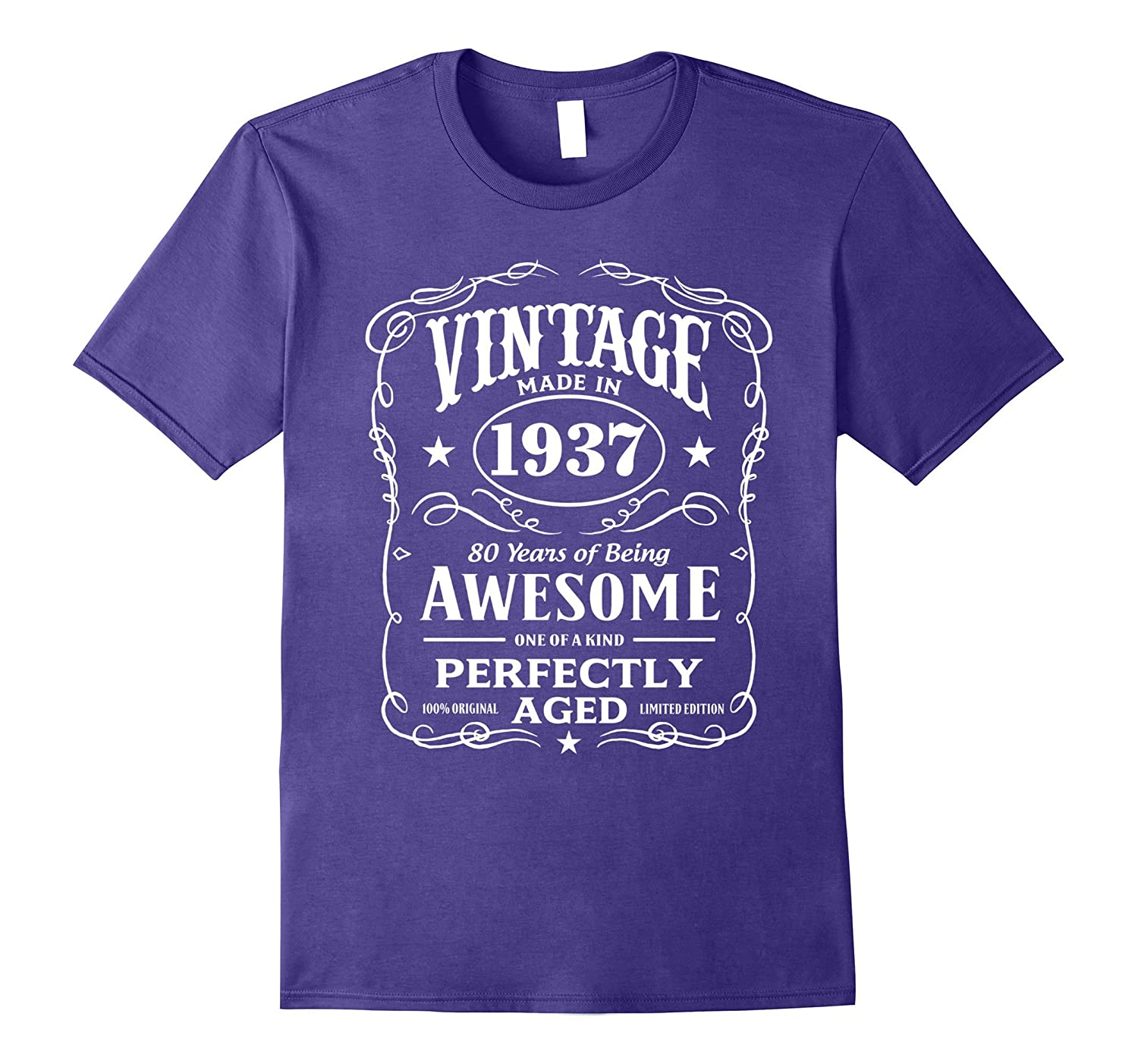 Vintage Made In 1937 Birthday Gift T-Shirt-CD
