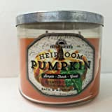 Bath & Body Works Heirloom Pumpkin 3 Wick 14.5 Ounce Candle Fresh Picked Collection
