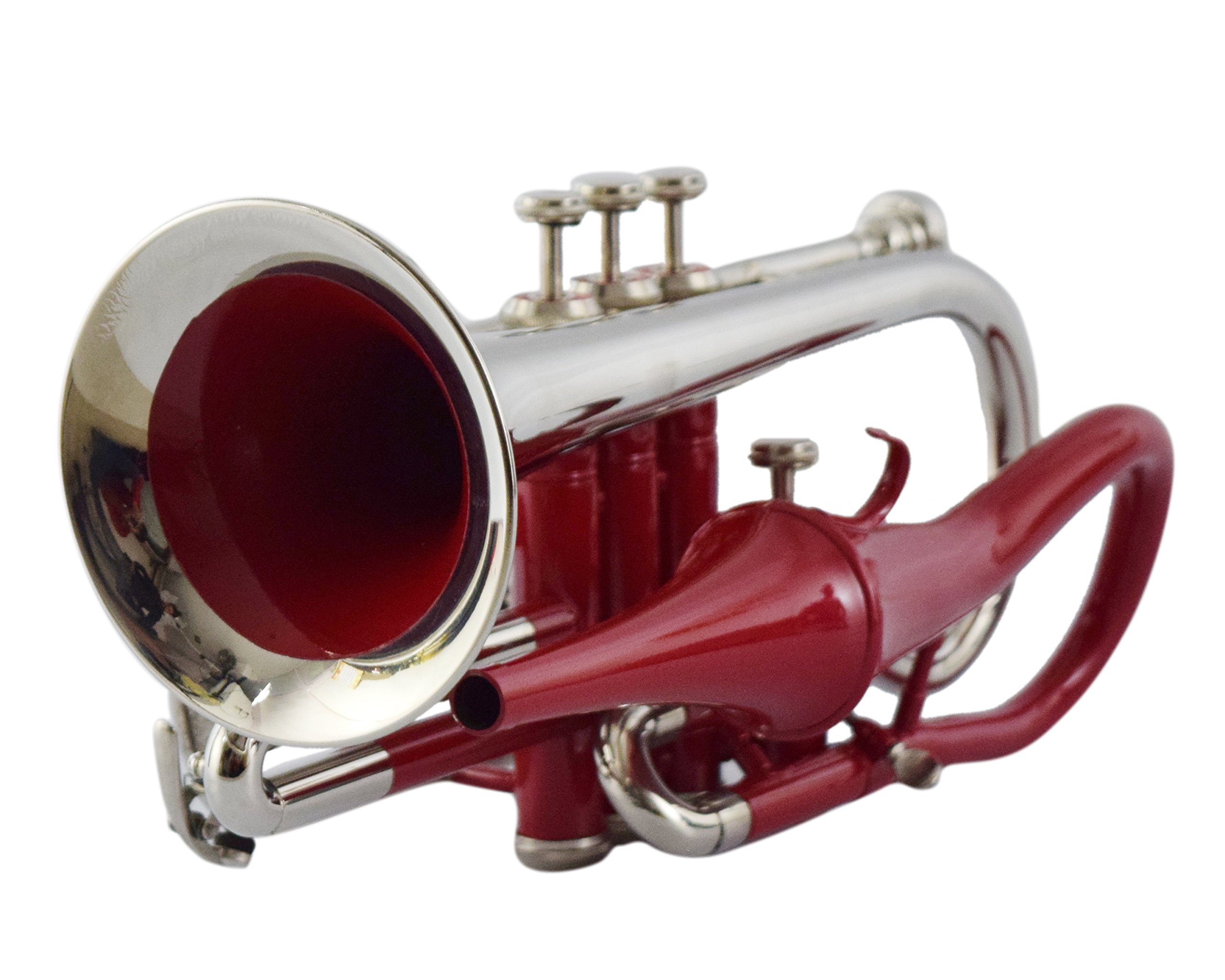 NASIR ALI BEAUTIFUL CORNET BP PITCH RED+ NICKEL COLORED WITH CASE AND MP by NASIR ALI (Image #1)