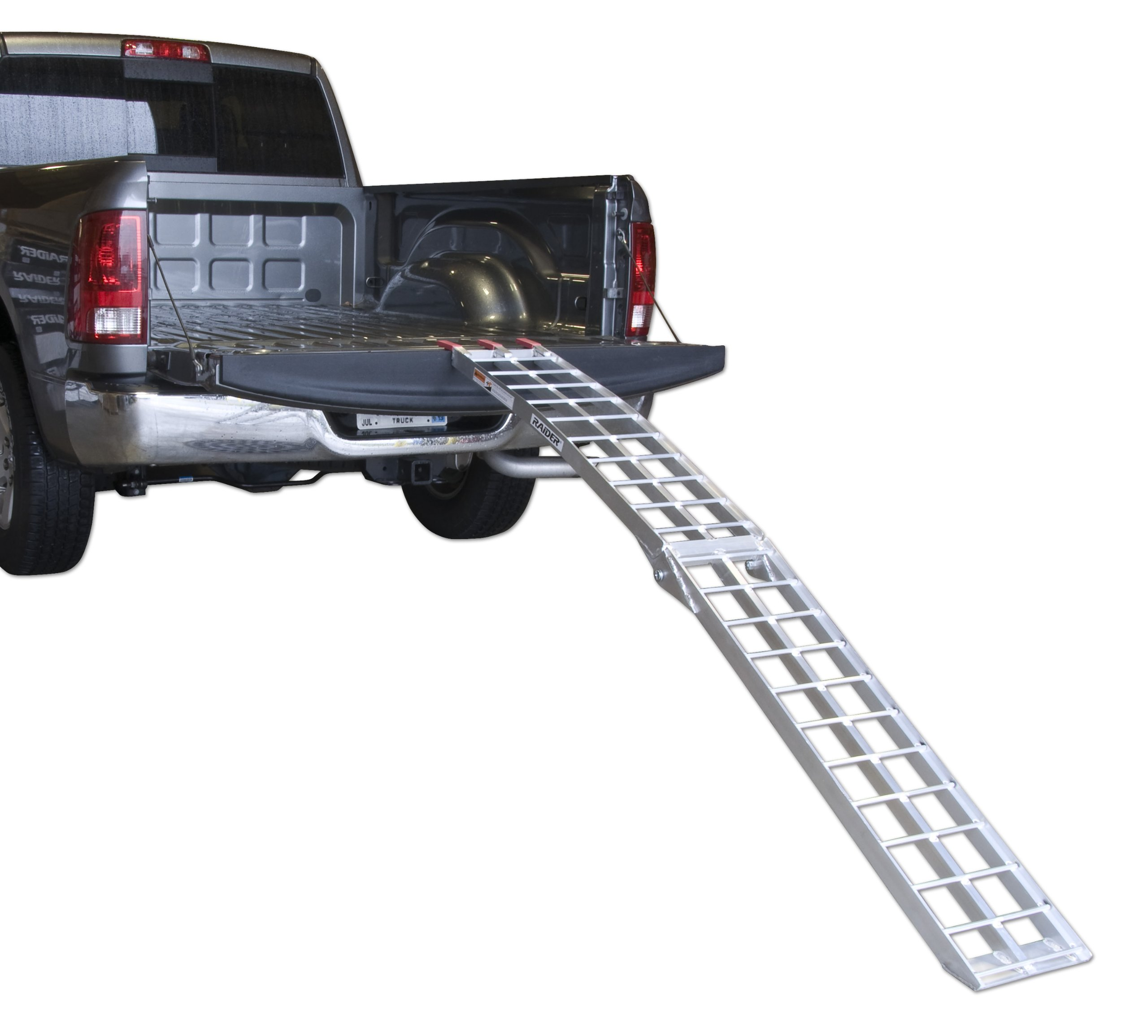 Raider 7.4-Feet Long Motorcycle Scooter Bi-Fold Aluminum Loading Ramp (750 lb. Weight Capacity) by Raider (Image #1)