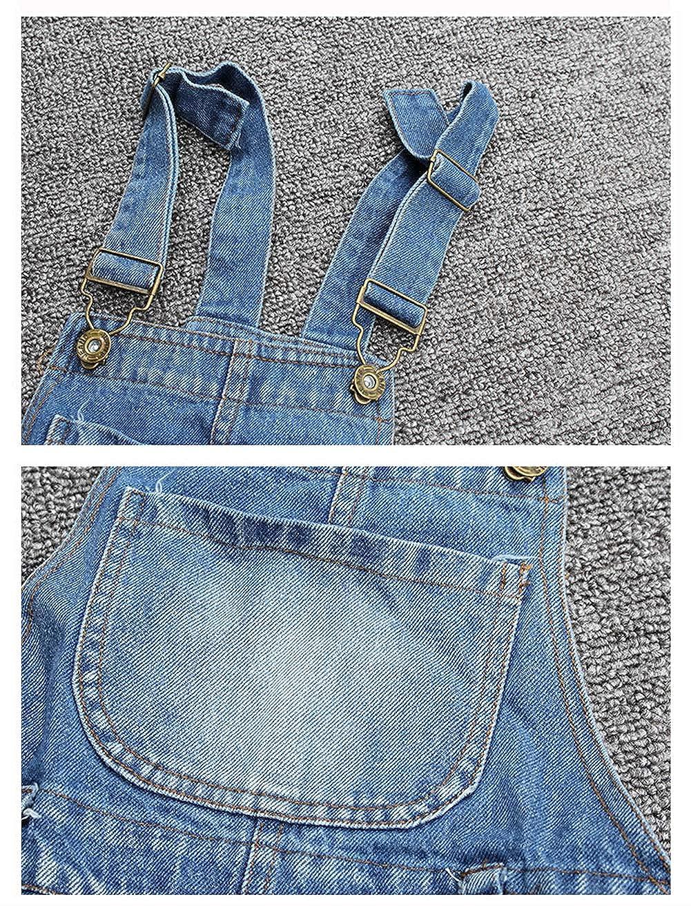 LAVIQK 3-13 Years Big Girls Kid Adjustable Strap Long Jeans Cotton Suspender Denim Bib Overalls Jumpsuit