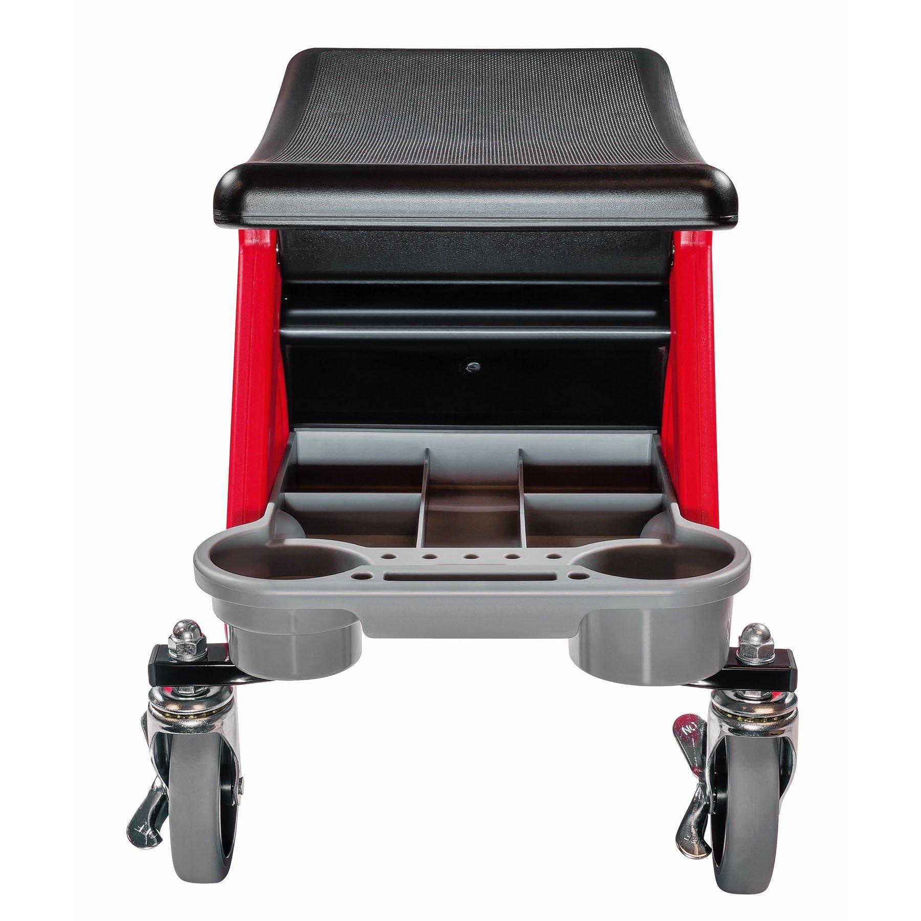 Powerbuilt Heavy Duty Rolling Mechanics Seat Brake Stool 300lb Capacity - 240036 (Stool) by Powerbuilt (Image #4)