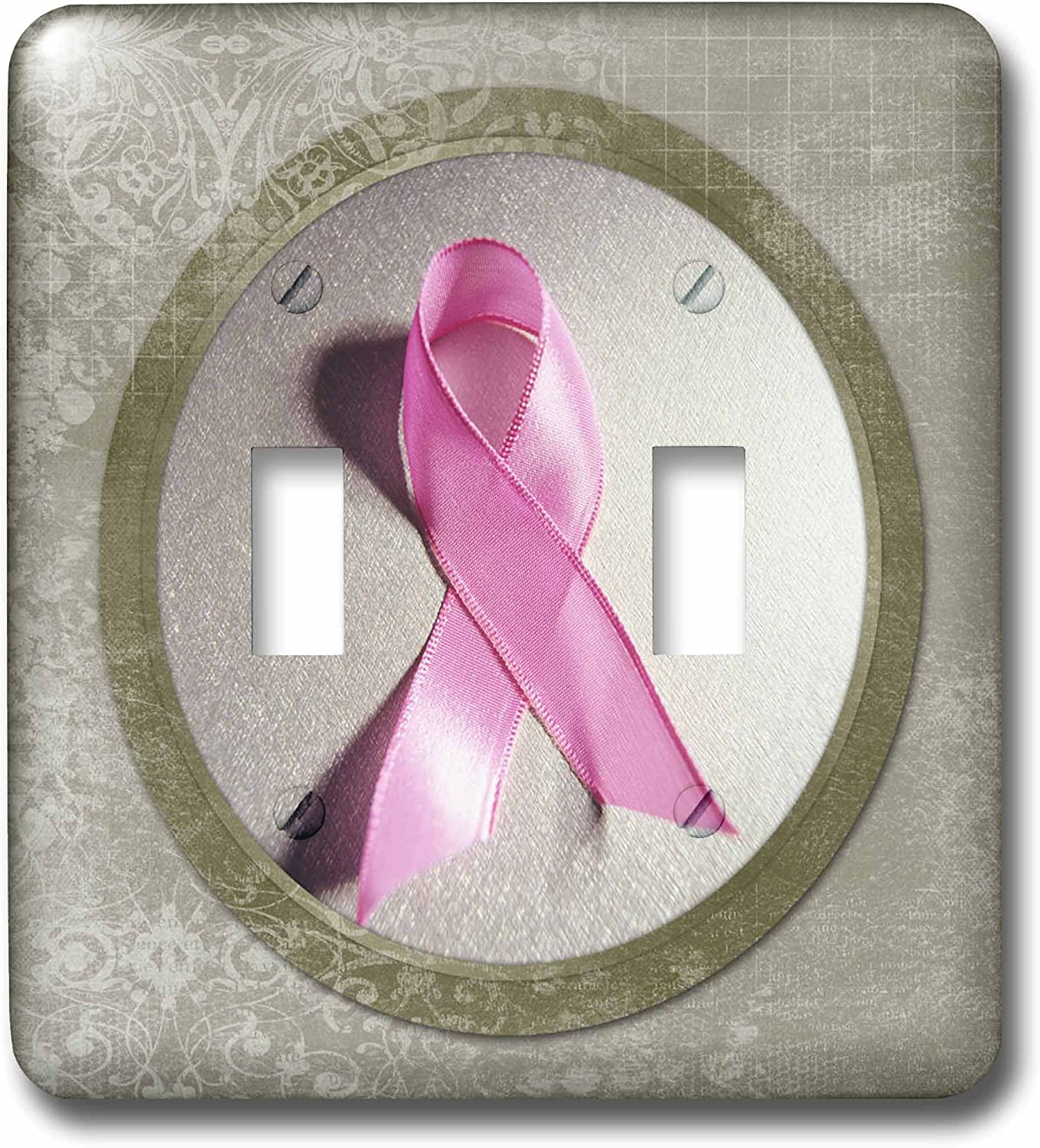 3drose Lsp 99446 2 Breast Cancer Awareness Ribbon Light Switch Cover Wall Plates Amazon Com