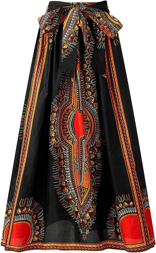 Shenboen Women Dashiki Print Shirt African Ankara Shirt