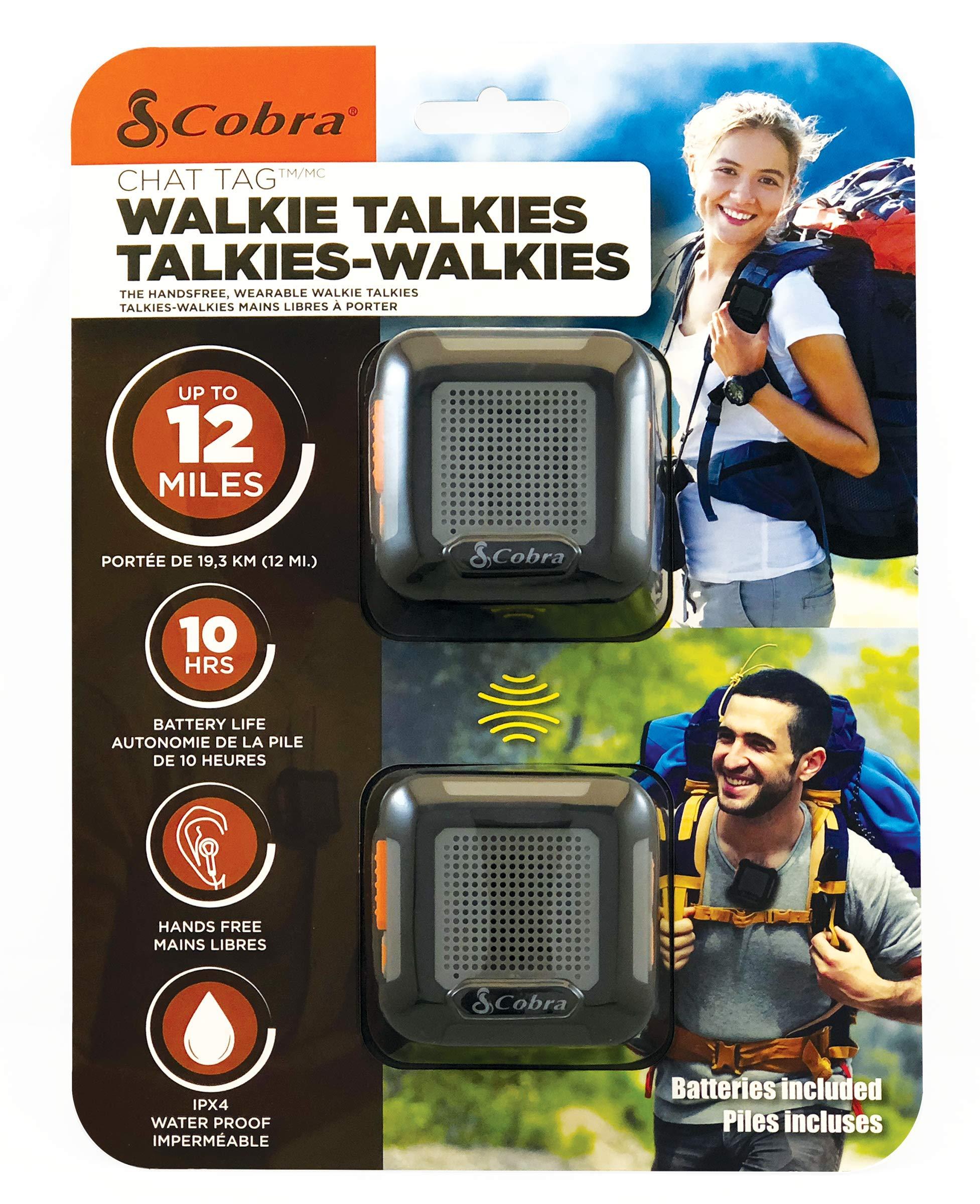 Cobra ACT220B Wearable Walkie Talkies Chat Tag Rock Hands Free 12-Mile Radios (Pair) by Cobra (Image #5)