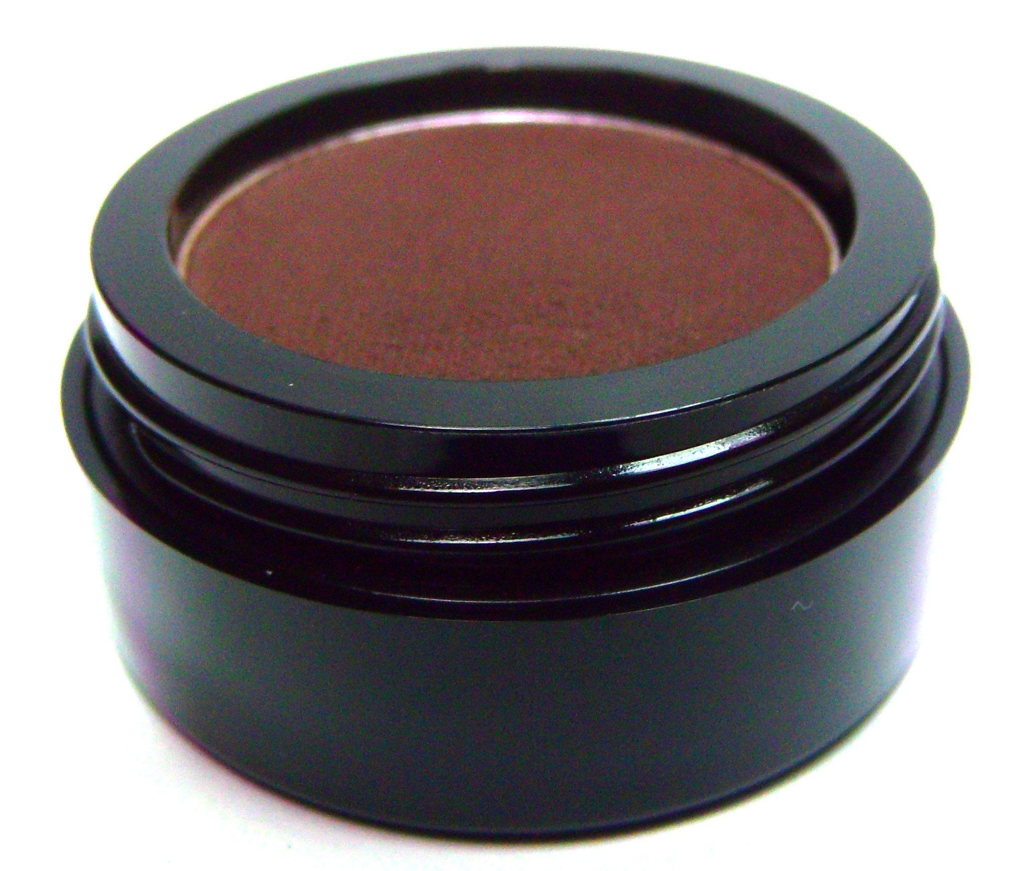 Pure Ziva Matte Chocolate Brown Wet Dry Pressed Powder Cake Eyeliner Eyeshadow, Gluten Free, No Animal Testing & Cruelty Free