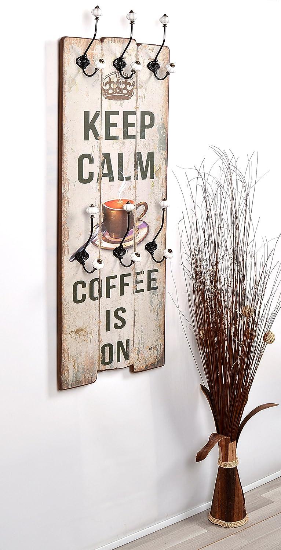 """Appendiabiti da parete """"keep calm"""" in stile epoca effetto shabby ..."""