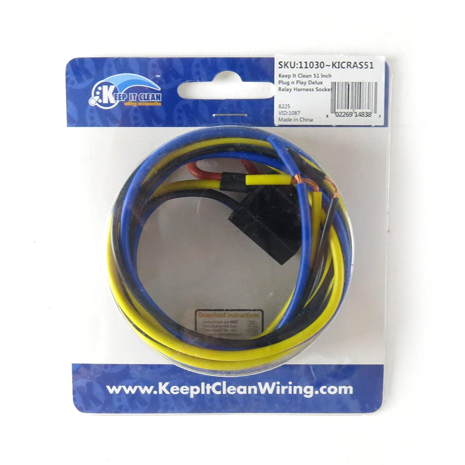 Amazon.com: Keep It Clean 11030 Relay Harness Socket 51 inch Plug n Play  Deluxe Relay Harness Socket: Automotive