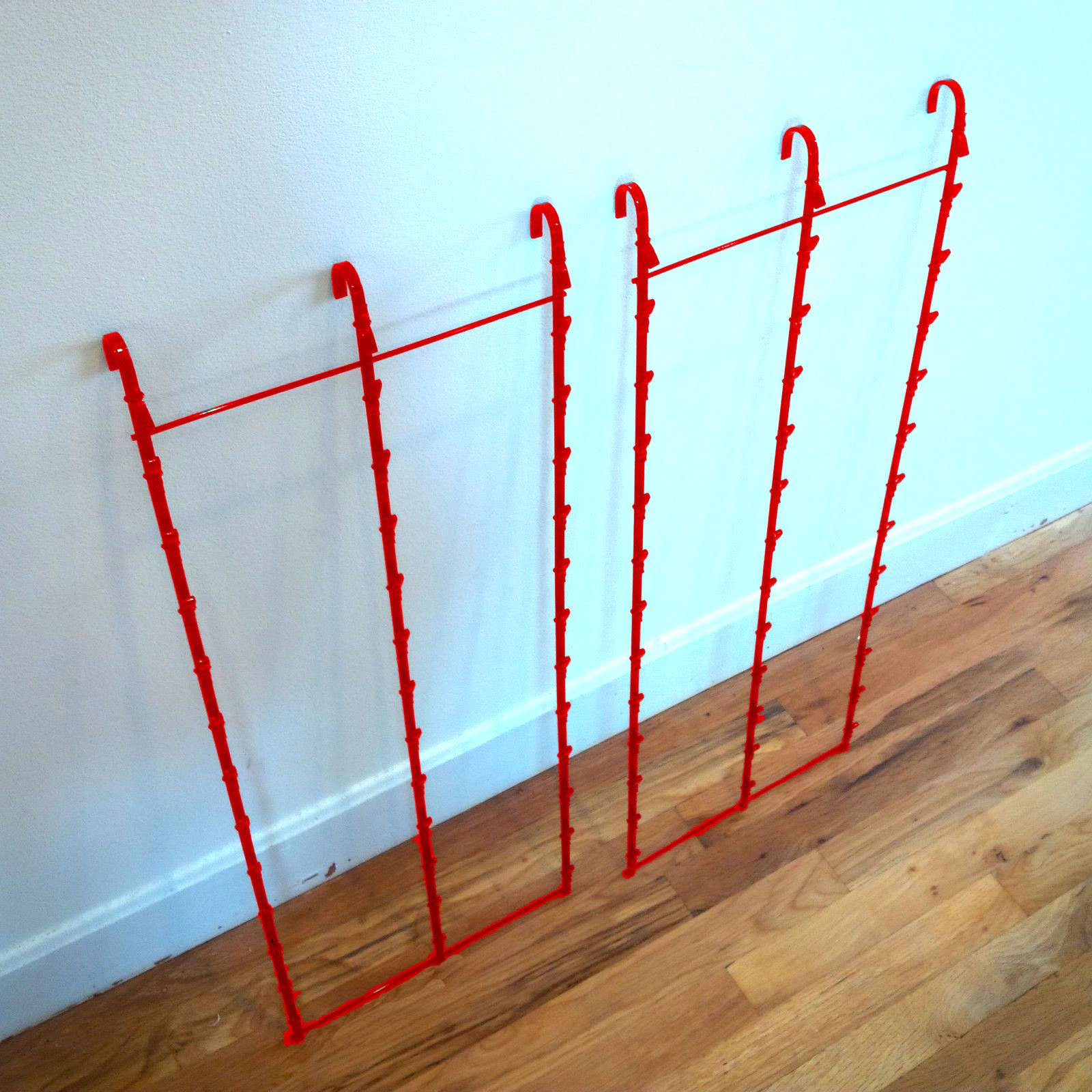 Two New 3 Strips 39 Clip Potato Chip, Candy & Snack Red Hanging Display Racks