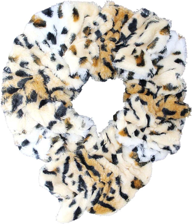 Animal Print Faux Fur Neck...