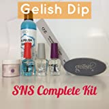 Gelish Dip SNS 1 Dipping Powder/Choice of Color & Liquids Nail Complete Kit
