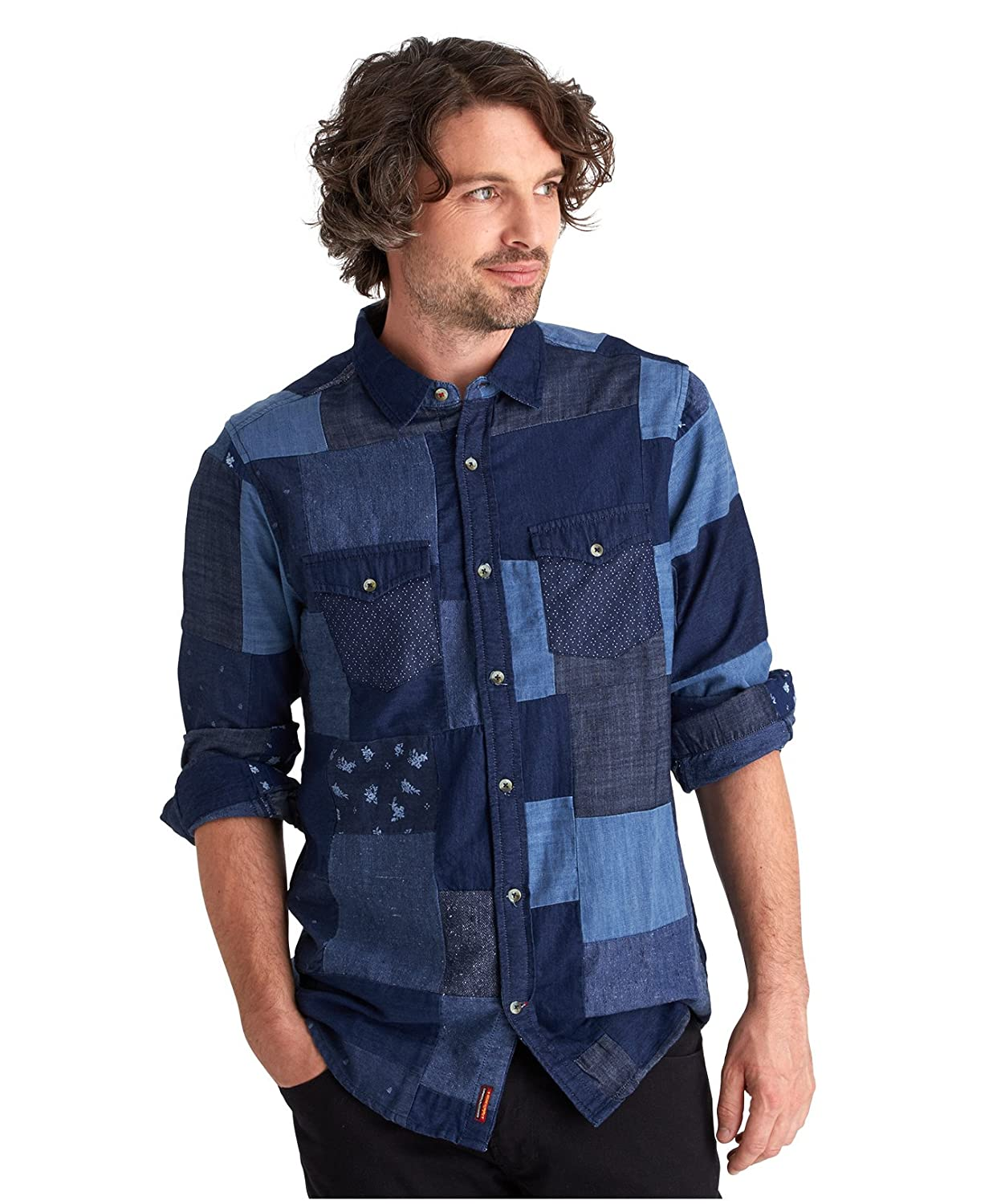 Joe Browns Herren Patchwork-Jeanshemd