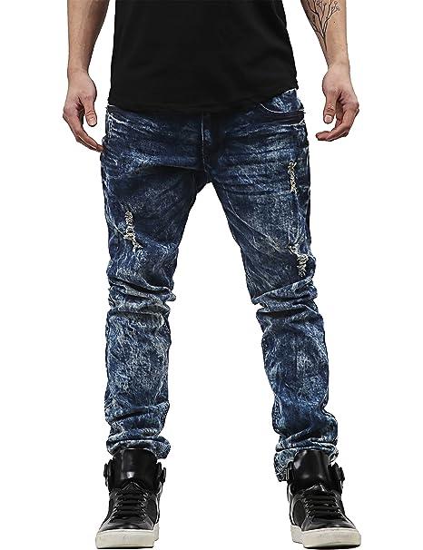 af005ebb81b Hat and Beyond Mens Skinny Fit Stretch Jeans Distressed Ripped Denim Pants  (32X32 1PI0004 061