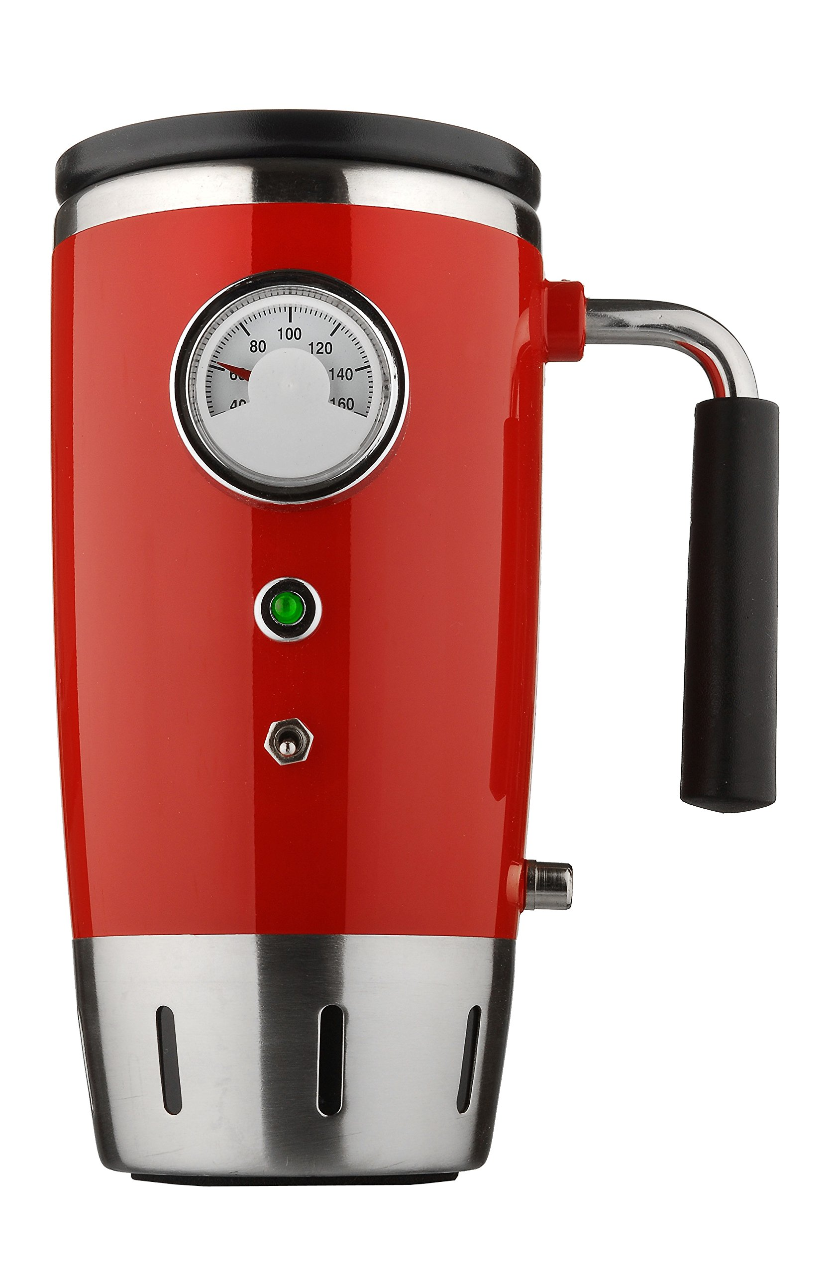 Tech Tools Retro Heated Smart Travel Mug Stainless Steel - 12V (Red)