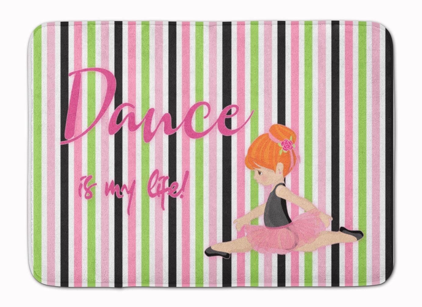 Caroline's Treasures Ballet Dance is my Life Red Floor Mat, 19 H x 27 W'', Multicolor