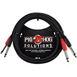Pig Hog PD-21410 Dual 1/4 inch Mono Cable 10 ft