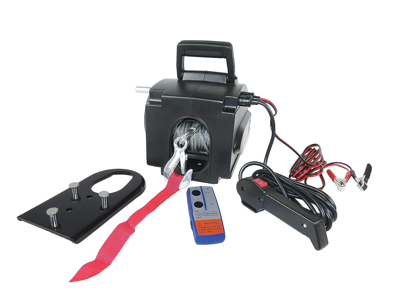 capacit/à 907,2/Kilogram CASTOOL argano Elettrico 12/Volt Recupero ATV//utv Winch Kit Filo Cavo Telecomando