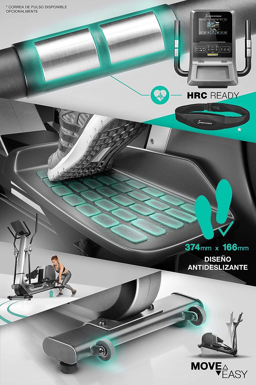 Sportstech Bicicleta elíptica LCX800,Pantalla Android Multifuncional, Volante 24Kg, App Smartphone,Bluetooth,Compatible con Pulseras de Actividad,12 ...