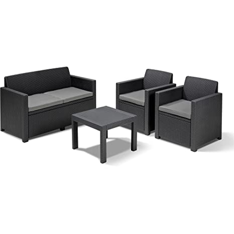 Conjunto de muebles de jardín Keter Allibert con sofá, 2 ...