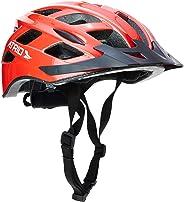 Capacete para Ciclismo Tam. G com LED Viseira Removível e 19 Entradas de Ventilação Vermelho - BI108  Atrio Adultos