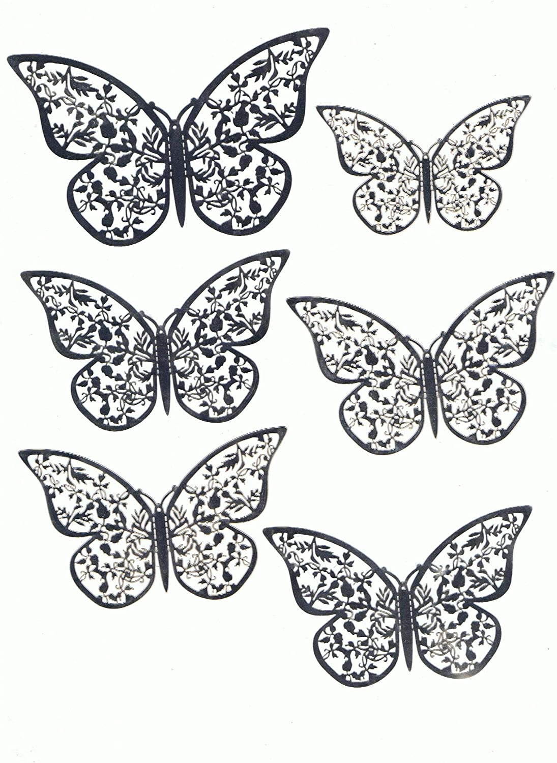 Sliver, 12 Pcs Jubilant Enterprise JE 3D Butterfly Wall Stickers Butterfly Wall Decals for Home D/écor DIY Butterflies Fridge Sticker Room Decoration Party Weddings D/écor and Children Playrooms