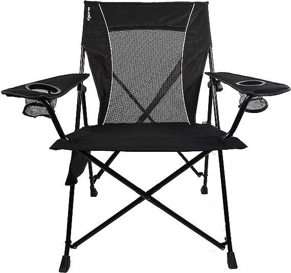 Amazon.com : Kijaro Dual Lock Portable Camping and Sports Chair, Vik Black : Sports & Outdoors