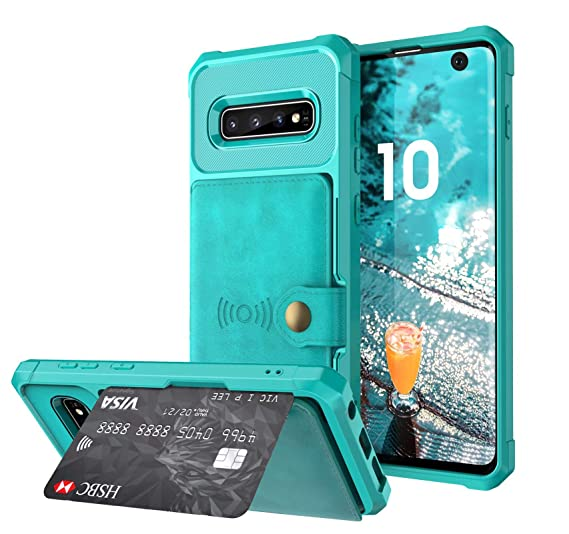 b8b35b43a3c Galaxy S10 Case,DAMONDY Wallet Purse Card Holders Design Cover Soft  Shockproof Bumper Flip Leather
