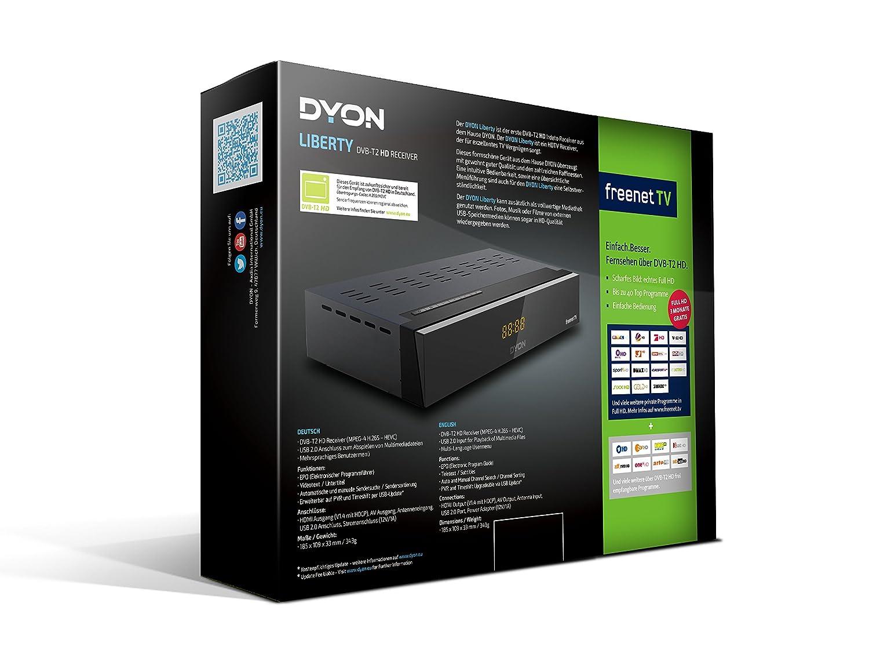 Dyon Liberty Dvb T2 Hd Receiver Mit Irdeto Entschlüsselung Freenet